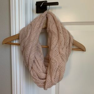 BP baby pink infinity scarf